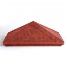 Колпак полимерпесчаный красный 440*440*160мм