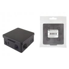 Коробка распаячная TDM 100*100*55 ОП IP54 8вх. черная 1401-0913