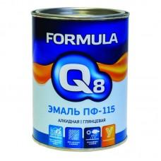 Эмаль ПФ-115 Коричневая 0,9кг FORMULA Q8(14)