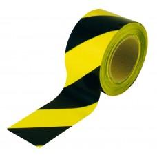 Лента сигнальная 50мм*200м черно-желтая Зебра Сохт