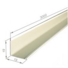 Уголок д/подвесного потолка 19*19*3м белый (Промет)