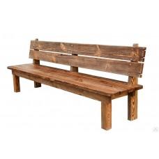 Скамейка со спинкой Хвоя 1500м. Декор