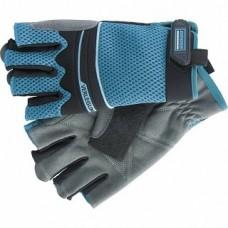 Перчатки комб. облегченные, откр. пальцы AKTIV, L 90316 Гросс