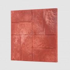 Плитка тротуарная полимерпесчаная красная 33*33*35