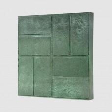 Плитка тротуарная полимерпесчаная зеленая 33*33*25