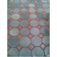 Плитка тротуарная Восьмигранник серый + кубик красный