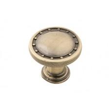 Ручка кнопка Бронза RK06 BA 27мм Keron