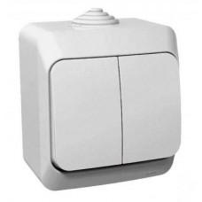 Выкл. Electric-042В 2-клав.ОП белый ВА10-042В