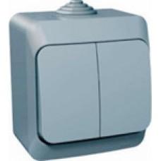 Выкл. Electric-042С 2-клав. серый ВА10-042С