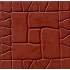 Плитка тротуарная Камень Готический 300*300*35мм коричневый литье