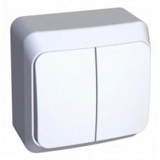 Выкл. Electric-002B 2-клав. белый ВА10-002B