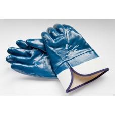 Перчатки краги синие(резиновые)
