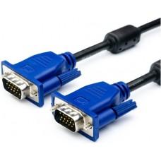 Кабель ATCOM (AT7790) кабель VGA 2 ферита DE-15Hd пакет 3,0м