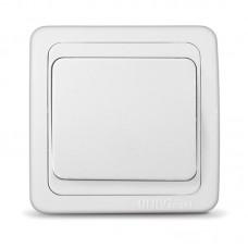 Выкл. UNIVersal 1кл.Валери с/у белый В0021