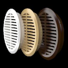 05ДП 1/4 бежРешетка переточная круглая D50 c фланцем D45