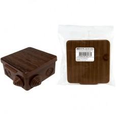 Коробка распаячная TDM 80*80*50 о/п бук квадрат 1401-0612
