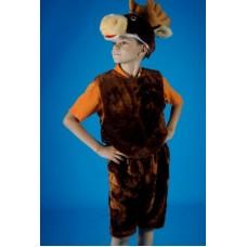 """Карнавальный костюм """"Лось"""" мех маска-шапка,жилет,шорты Р-104-134см"""