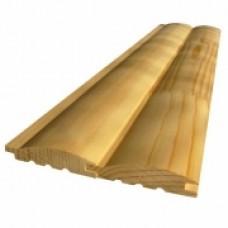 Блок-хаус (имитация бревна) 36*185*3м (2шт/1,11м2) АВ Сосна
