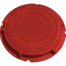 Люк полим. песчан. (красный) от 0,8-1,5 тон высота 51мм (590/760мм)
