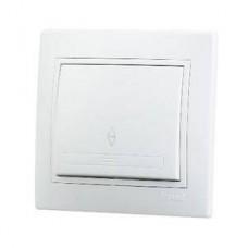Выкл. Lezard mira 1кл.с/п белый прох.701-0202-105