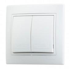 Выкл. Lezard mira 2кл.с/п белый 701-0202-101