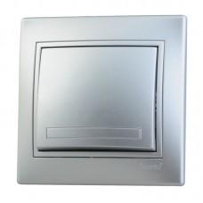 Выкл. Lezard mira 1кл.с/п металлик серый 701-1010-100