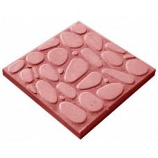Плитка тротуарная Галька 400*400*40мм красный литье