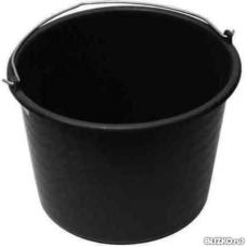 Ведро черное пластм. строительное 12л