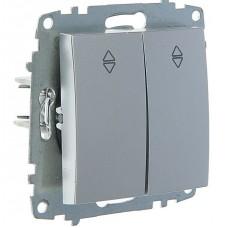 Выключатель ABB Cosmo 1-клав. алюм. механ.сх.6 б/рамки