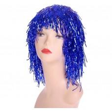 """Карнавальный парик """"Дождь"""" 35 см, цвет синий 2447915"""