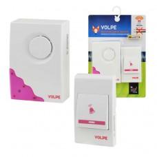 Звонок Volpe UDB-Q026 беспр.80м16мелод. индик.бел.