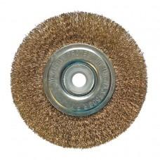 Щетка-крац. дисковая 150мм. отв 22,2 мм с компл. переходников Бибер