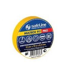 Изолента Safeline 15мм*10м жёлтая