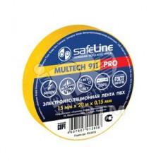 Изолента Safeline 15мм*20м жёлтая