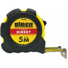 Рулетка Direct10м/25мм обрезиненный корпус Бибер