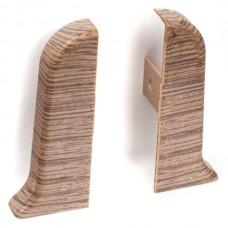 Заглушка для плинтуса левая ПВХ Рико Лео 52мм 1шт/уп  47 Дуб Норвежский