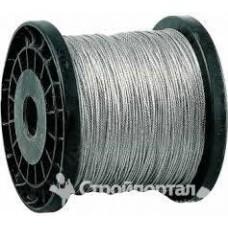 Трос стальной(Zn) МФ катушки д.3,0  DIN 3055