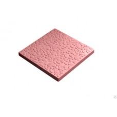 Плитка тротуарная Галька 400*400*35  красный литье Промикс