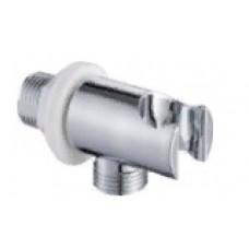 DK 0508 Вывод с держателем лейки 1/2 с гайкой пластик  (хром)