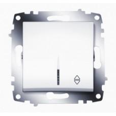 Выключатель ABB Cosmo 1-клав. сх 6 белый механ. б/рамки