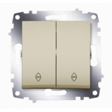 Выключатель механ.ABB Cosmo 2-клав. сх 6 титаниум механ.