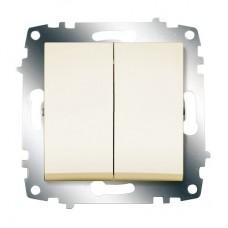 Выключатель ABB Cosmo 2-клав. кремовый механ. б/рамки