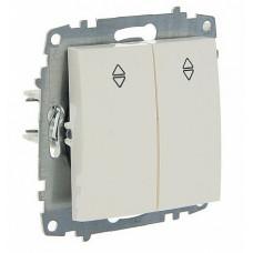 Выключатель ABB Cosmo 2-клав. сх 6 белый механ. б/рамки