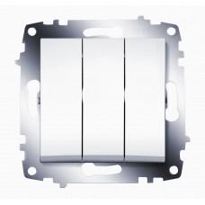Выключатель ABB Cosmo 3-клав. белый механ. б/рамки