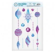 2366475 Наклейки на стекло «Новогодние игрушки», 20 х 34,5 см