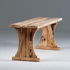 Скамейка без спинки Хвоя 1300*300 декор